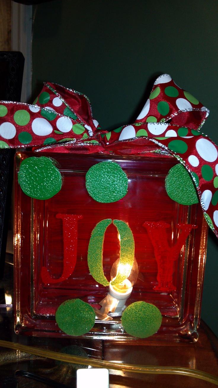 Decorative glass blocks crafts - Glass Block Christmas Decoration