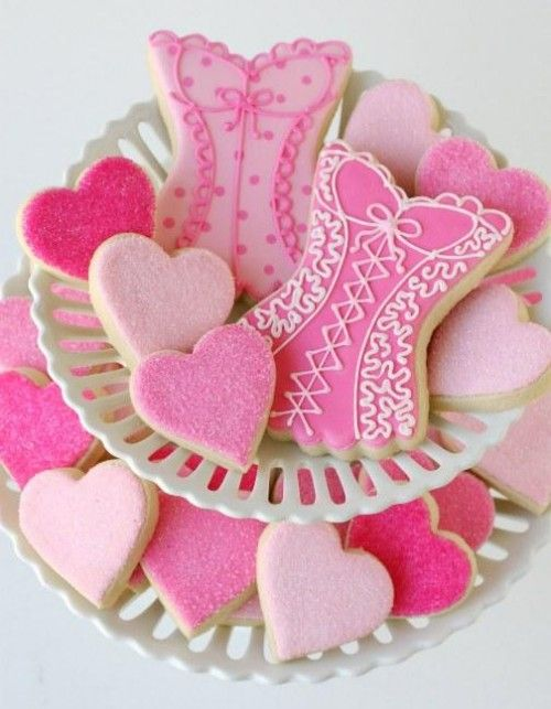 Pink, Pink & more Pink Cookies - cute for bridal shower