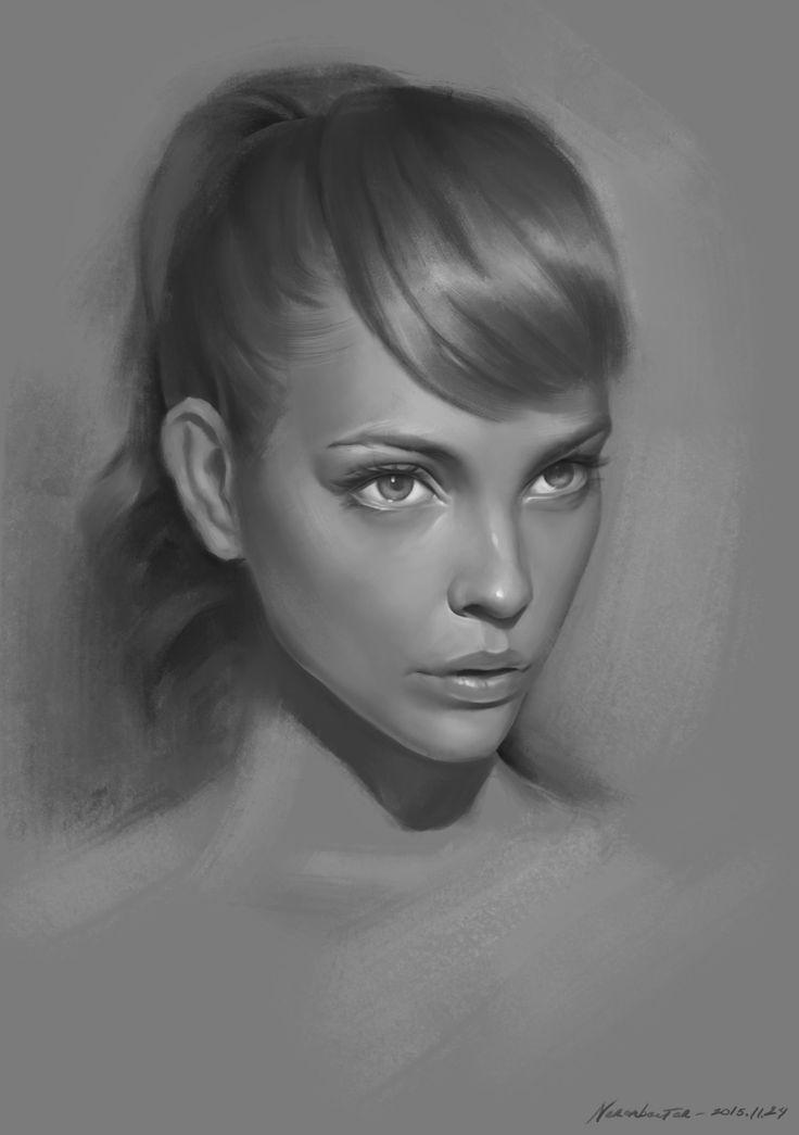 Portrait practice by Naranbaatar Ganbold