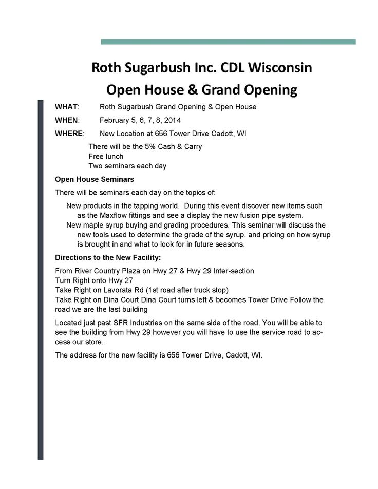 Roth Sugarbush Inc Open House Amp Grand Opening Grand