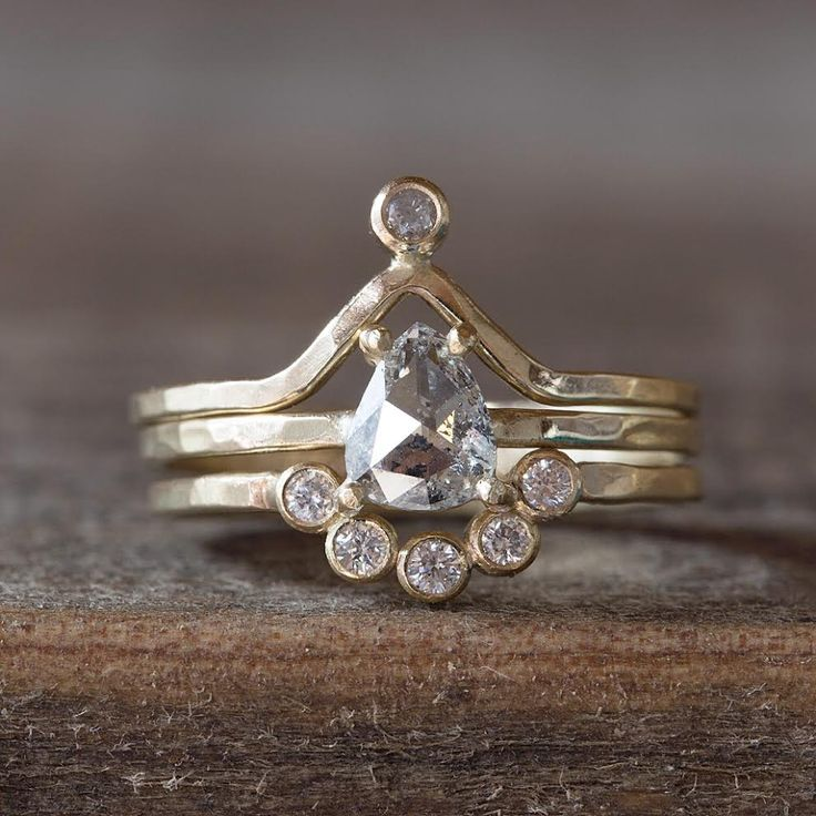 engagement ring, wedding band, anniversary ring.  {Alexis Russell Jewelry}