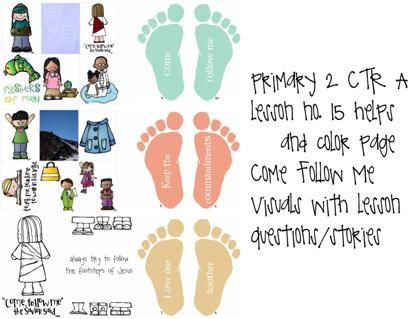 Primary 2 - CTR A - lesson 15, Come follow me, lds primary lesson helps, LDS primary visuals,