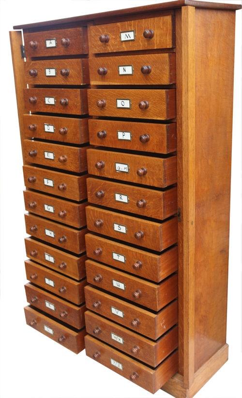 Victorian oak filing cabinet