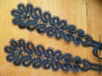 Галстуки, бабочки ручной работы. Ярмарка Мастеров - ручная работа кружевной галстук. Handmade.