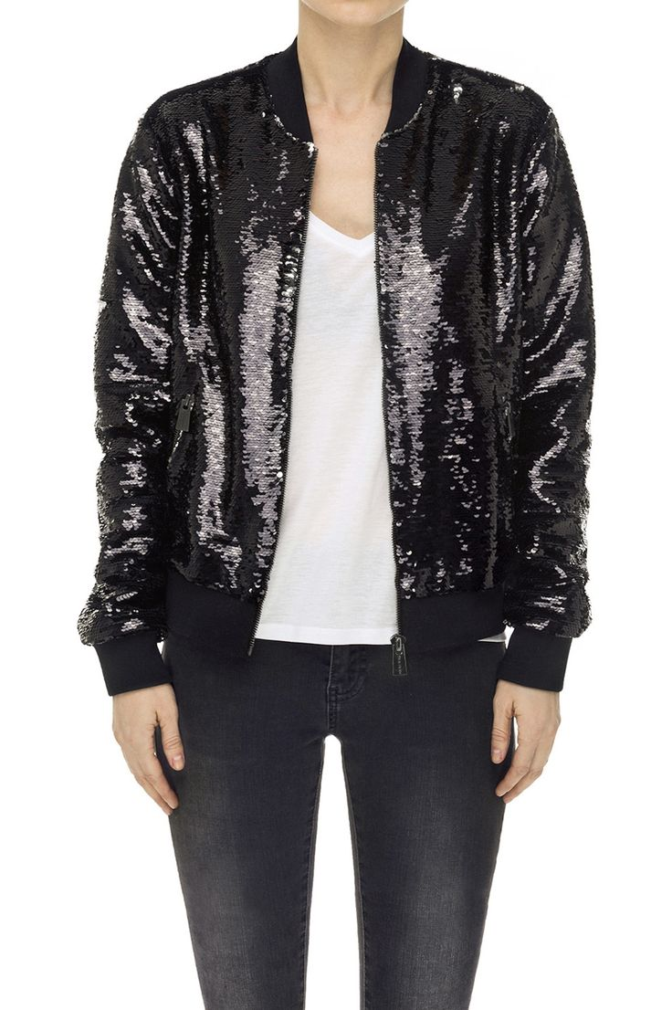 Sequin Bomber Jacket - Anine Bing - Fashion for tall women | tall clothing  | tall