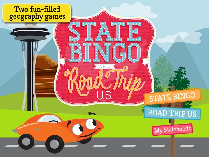 Best Geography Apps State Bingo And Road Trip USGeography - Us road map for ipad