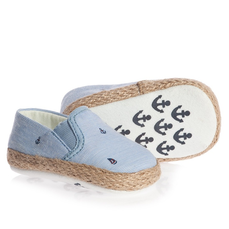 Blue Espadrille Pre-Walker Shoes would look so cute on Coop