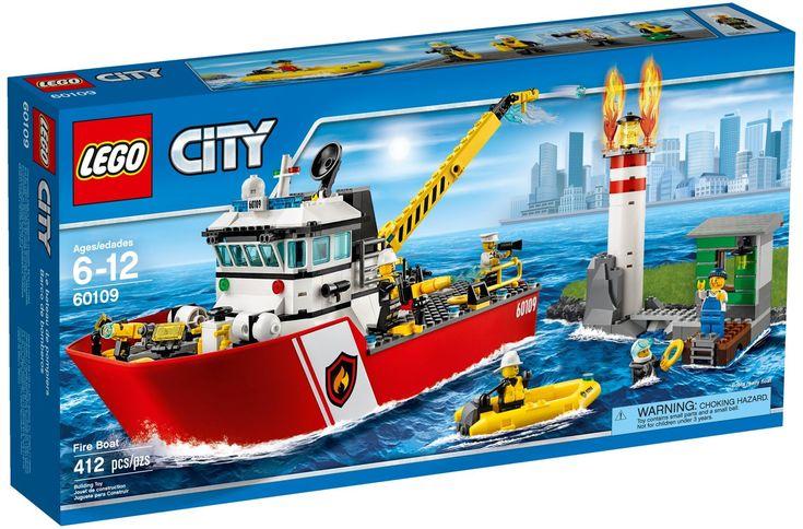 Comparez les prix du LEGO City 60109 avant de l'acheter ! Infos, description, images, vidéos et notices du LEGO 60109 Le bateau de pompiers sur Avenue de la brique