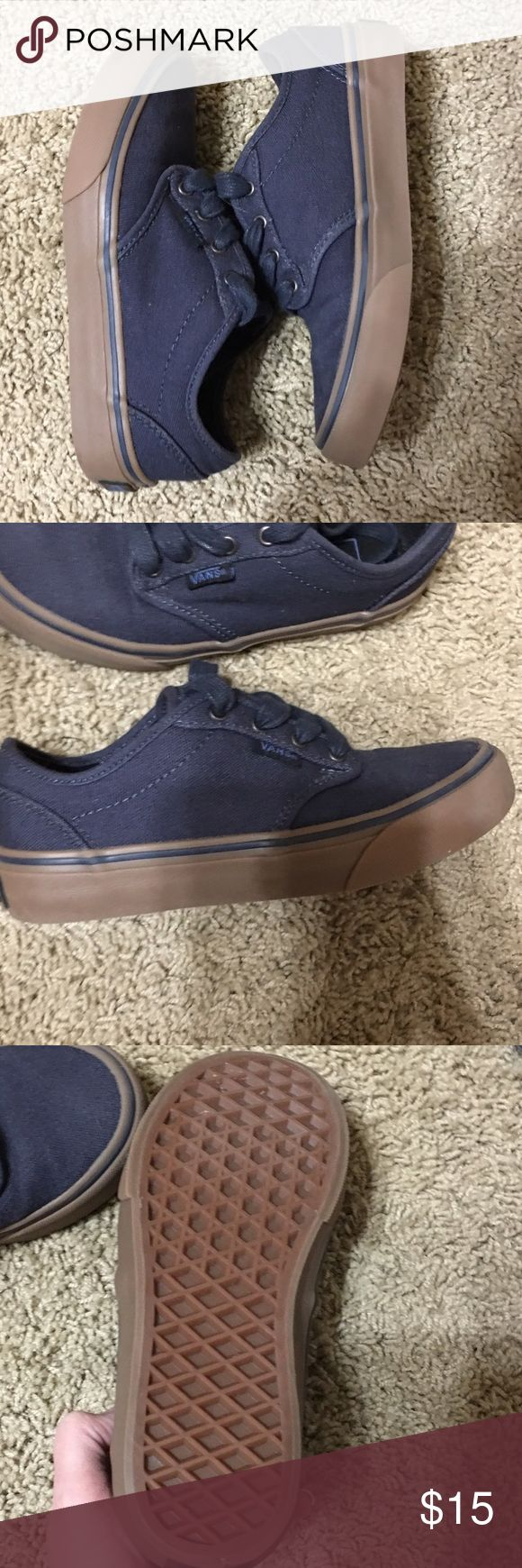 🎮Boys Vans Navy blue canvas boys vans sneakers EUC my son only wore them maybe 2-3 times no flaws. Vans Shoes Sneakers