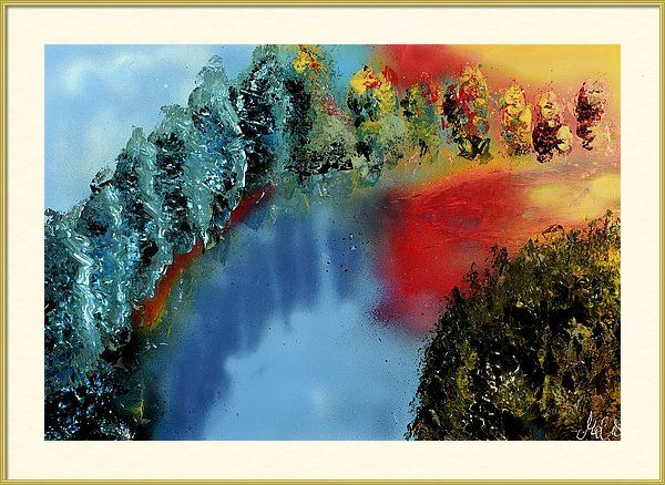 Featuring the painting River Of Colors by Nandor Molnar (When you visit the Shop, change the size, frame, mat, paper and finish as you wish)