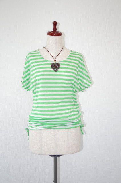 ゆったり着やすく、裾はダボッとしないようにクシュクシュとサイドにヒモがついています。とても軽やかな生地です。タイトスカートやショートパンツ・マキシ丈スカート等...|ハンドメイド、手作り、手仕事品の通販・販売・購入ならCreema。