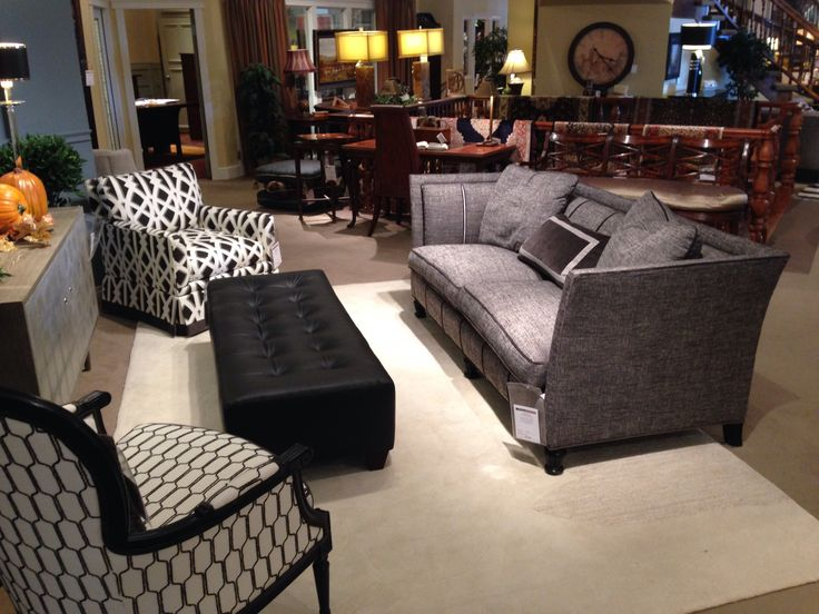 this upholstery setting by sherrill furniture offers both comfort and