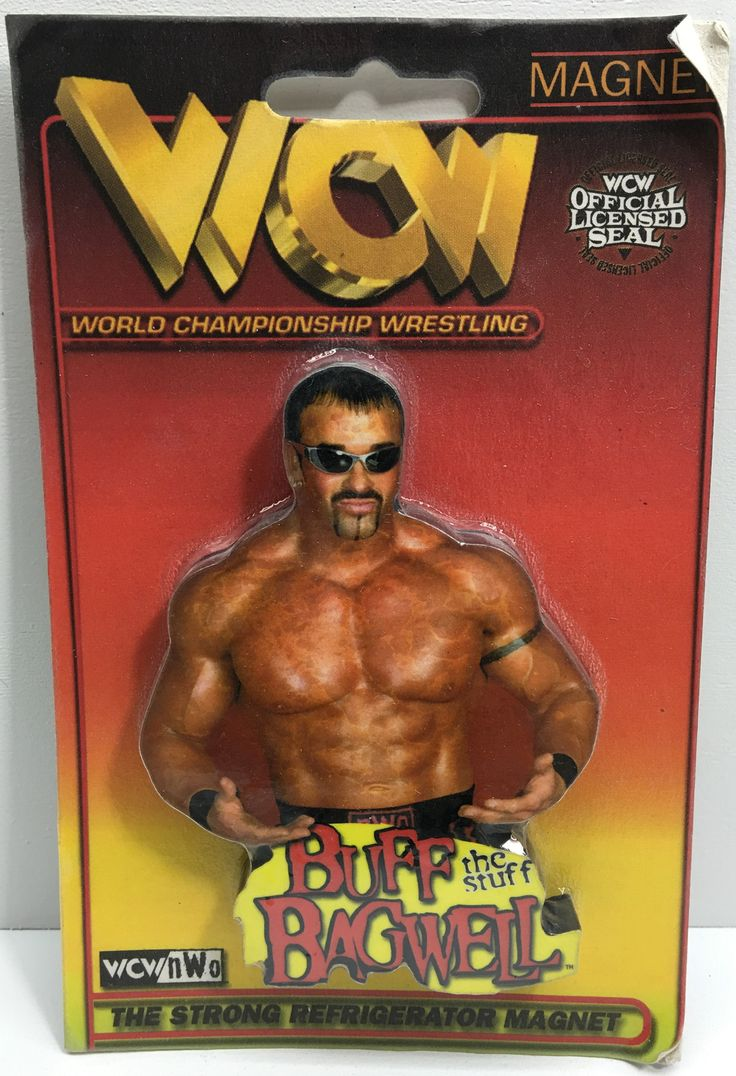 (TAS033133) - 1999 Much Magnets WCW WWE Wrestling Strong Magnet - Buff Bagwell