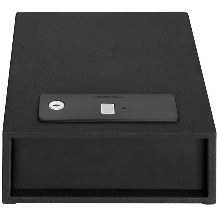 Quick Access Auto Open Drawer Safe with Biometric Lock, Black
