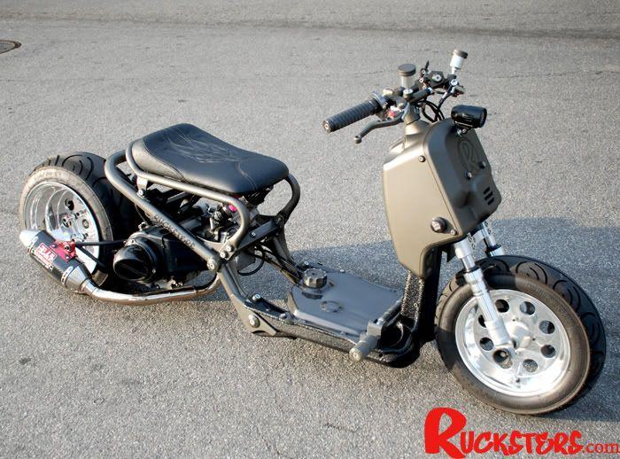 rucksters ruckus motorcycles and guns pinterest honda ruckus honda and scooters. Black Bedroom Furniture Sets. Home Design Ideas