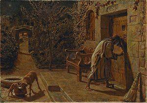 William Holman Hunt  Der aufdringliche Nachbar (1895). Gleichnis vom bittenden Freund