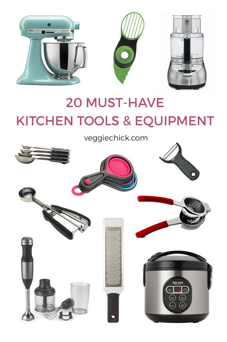 20 Must-Have Kitchen Tools & Equipment | Kitchen tools ...