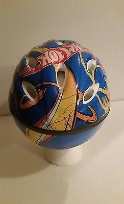 Bike Helmet Hotwheels Blue with Designs Toddler Bicycle Helmet