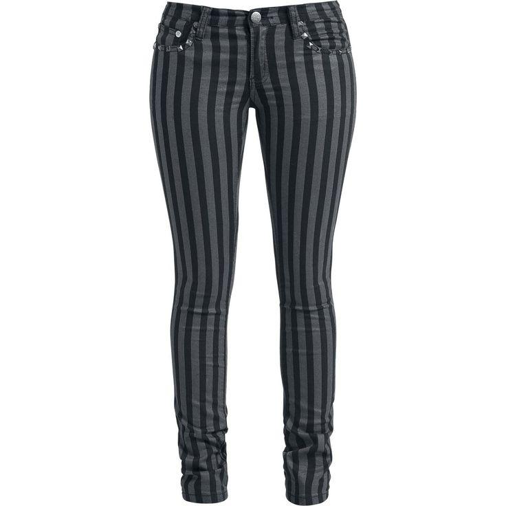 Pantalon en toile Rock Rebel by EMP »Stripes (Slim Fit)«   Dispo chez EMP   Plus de Pantalons en toile RockWear sur notre site en ligne ✓ Prix imbattables !