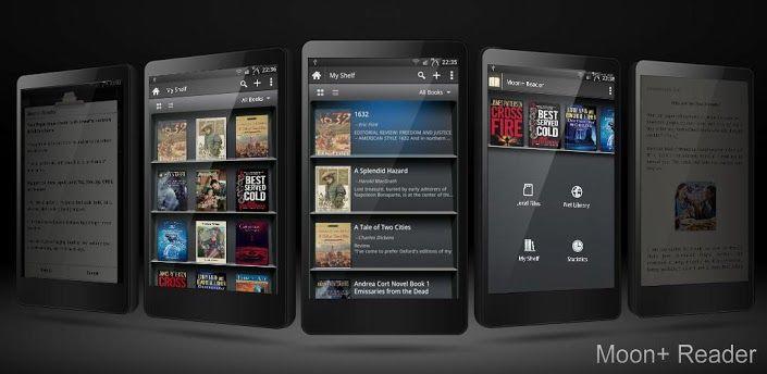 Moon+ Reader  Lector de ebooks dispone de una amplia compatibilidad con formatos de libros electrónicos, pudiendo abrir una gran variedad de archivos de texto. Aunque el PDF no se encuentra entre ellos,