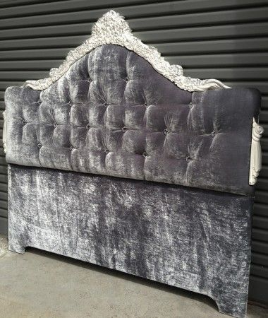 French Style Headboard with Feature Timber Carvings