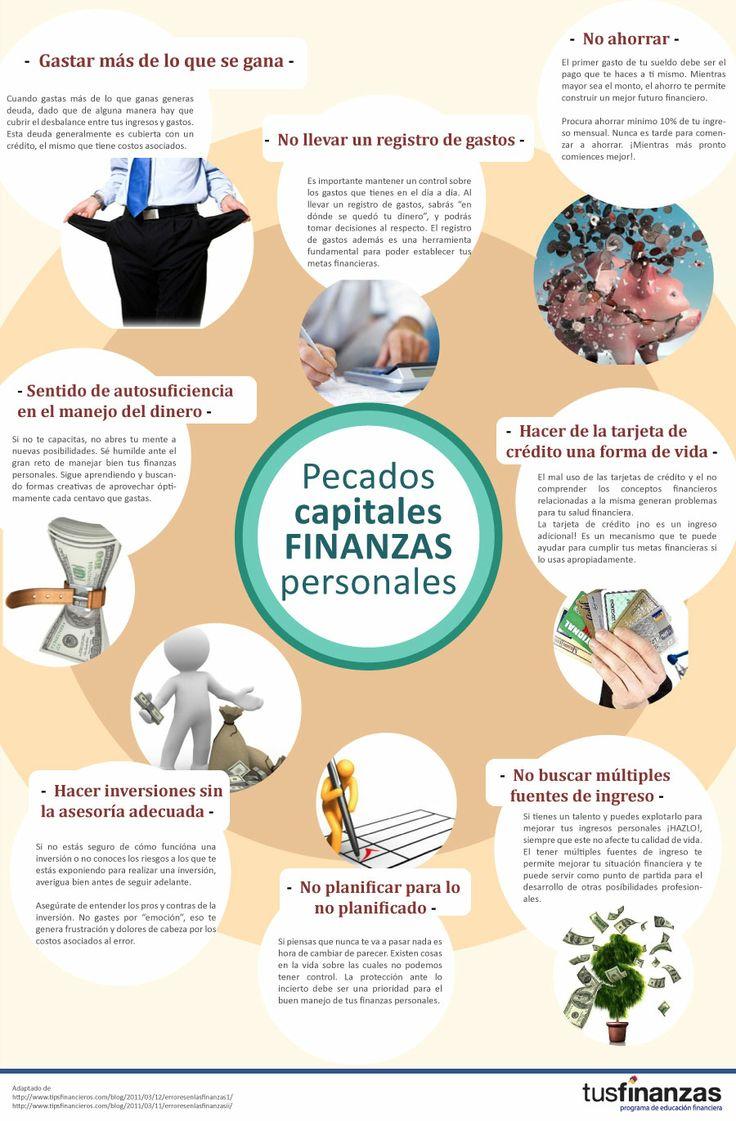 Si cumples con 3 de los pecados capitales más comunes en finanzas personales. Ponle Atención! Más información en www.finanzas.ec