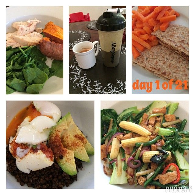 A day on the 21 Day Fix! #21dayFIX #shakeology #cleaneating #fastfood #simplefood #eatclean #easymeals