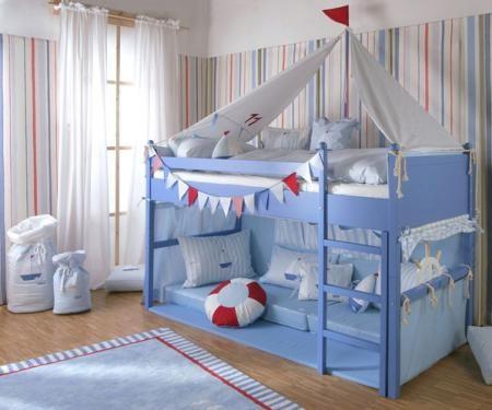 Unique Kinderzimmer von Annette Frank Motivserie SegelbootDie Designserie Segelboot von Annette Frank ist eines von drei Themen rund um das Meer Segelboot Ku