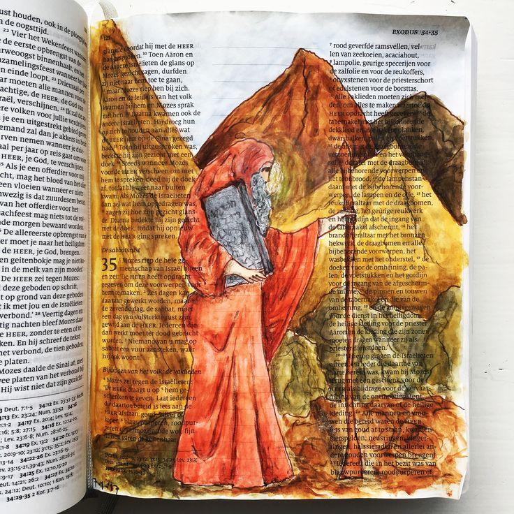 #biblejournaling #schrijfbijbel #mozes