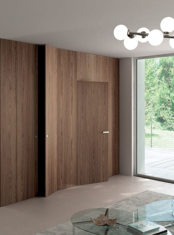 Image result for timber clad wall with door flush