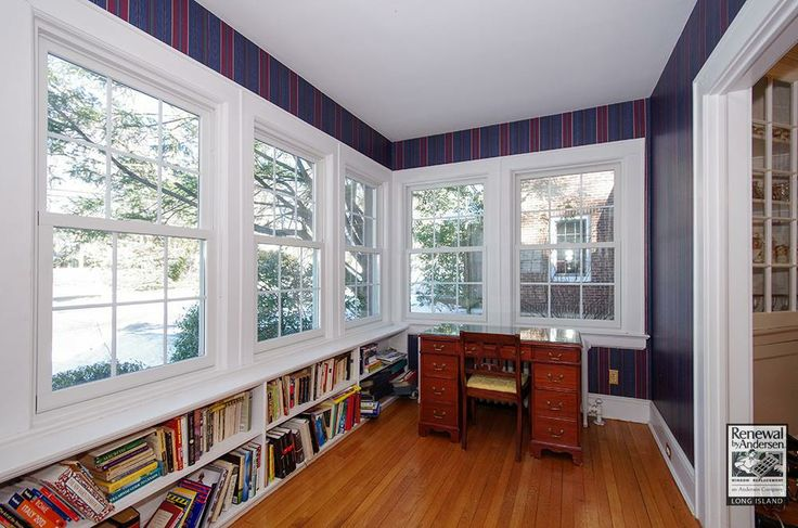 Large Foyer Window Replacement : Double hung replacement windows in this delightful foyer