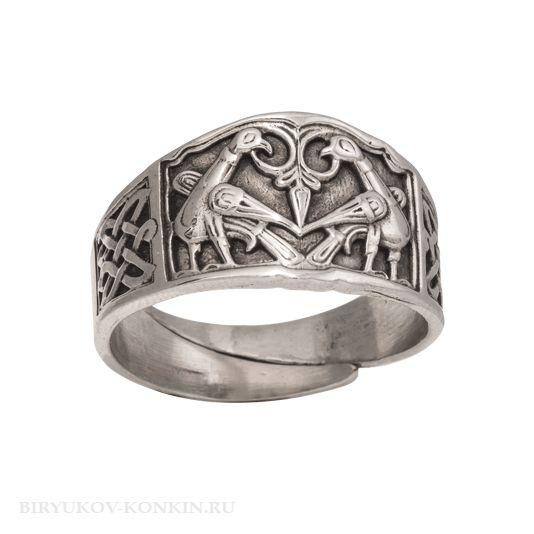 Кольцо с изображением птиц, украшение