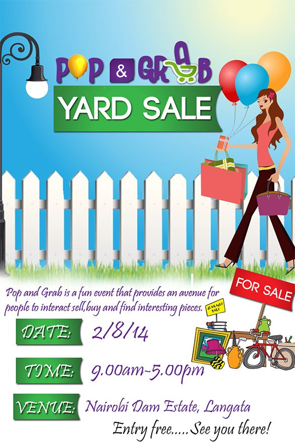 23 best Shopping trips images – Yard Sale Flyer Template