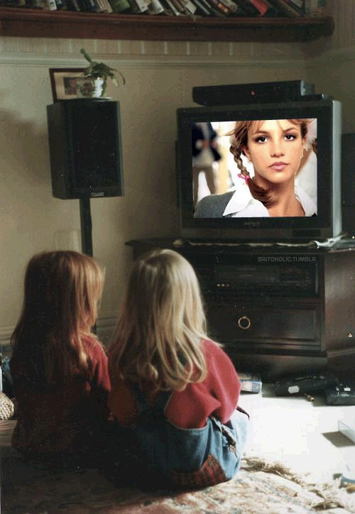 This is how me and my sister sat when this or an *NSYNC music video came on