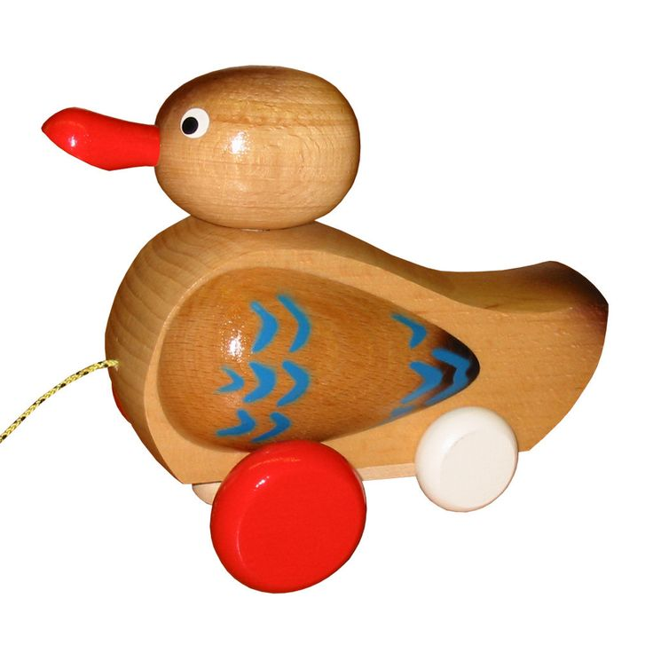 Wooden Pull Along Quacking Duck - Gabriel