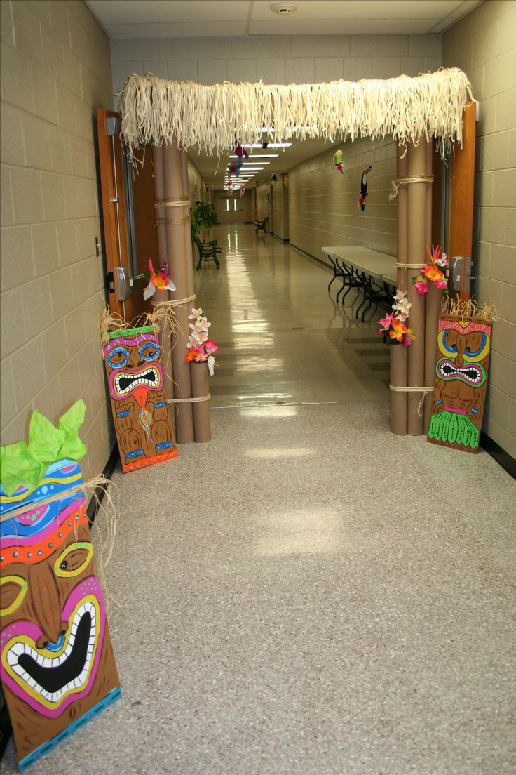 Luau Party Decorations! janet, you could draw these on cardboard