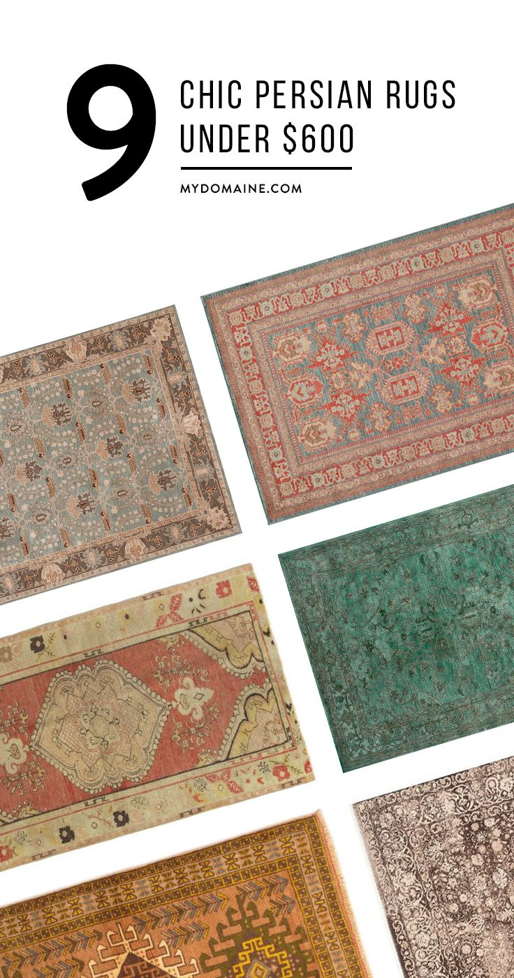 8 Chic Persian Rugs Under 600