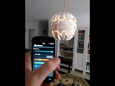 ikea ps 2014 pendant lamp 39 exploding death star 39 remote controlled via an android app. Black Bedroom Furniture Sets. Home Design Ideas