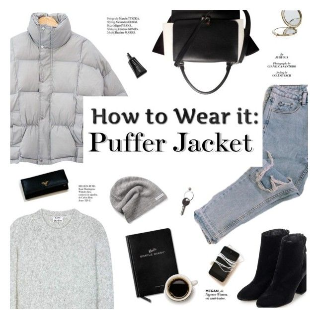 """Puffer jacket"" by honestlyjovana ❤ liked on Polyvore featuring Acne Studios, Topshop, CÉLINE, Converse, Haute Hippie, Henri Bendel, Bobbi Brown Cosmetics, Maison Margiela, KEEL'S and Whiteley"