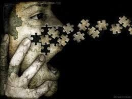 I feel this image is very inspiring. The man's face is being fragmented into jigsaw pieces which I feel clearly portray the theme of fragments because a jigsaw can be fragmented, however it can all so be pieced back together.