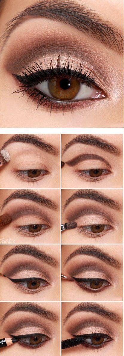 8 Pasos para el maquillaje para ojos cafés