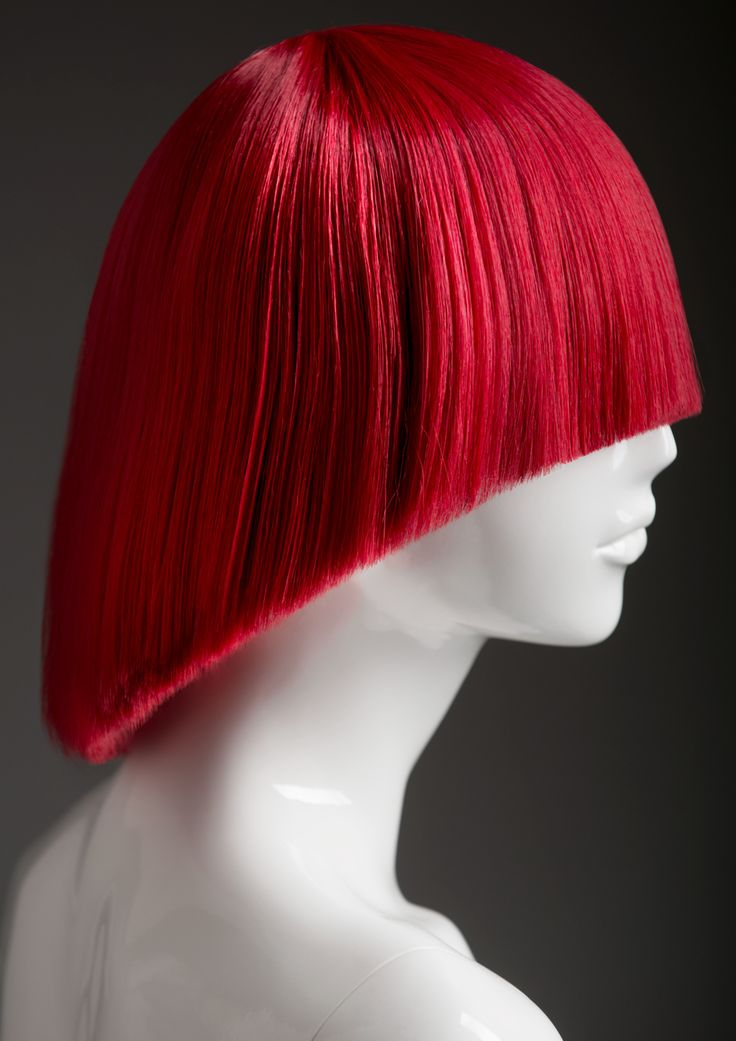 FEMALE WIGS #MoreMannequins #FemaleMannequin #hairstyle #redhair #bangs