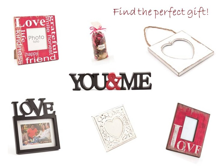 Find the perfect gift! Items include: Black Script Frame Love 4X6, Distressed Words 4X6 Love, Slogan Frame Red, W/W Scroll Heart 5X5,  Potpourri Veryberry, You Sign, Vintage Was Hanging Heart