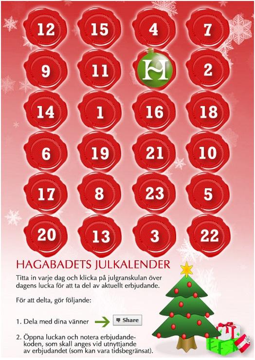 Hagabadet Christmas calendar