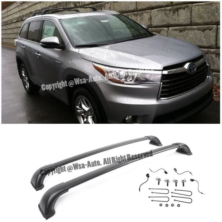 Cool Amazing For 14-15 Toyota HighLander LE 2 PCs Black Top Roof Luggage Carrier Cross Bar 2017/2018
