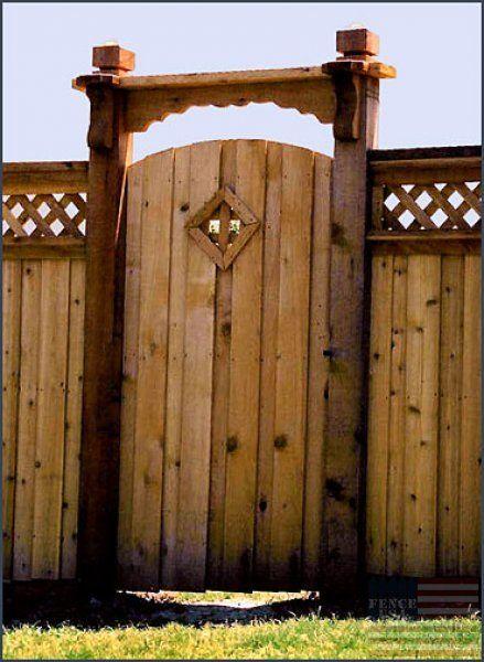 Board On Board Decorative Arched Gate Wood Window