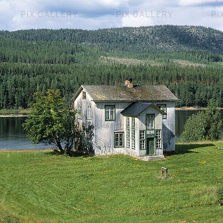 "Abandoned house by ""Lule älv"" in North of Sweden"