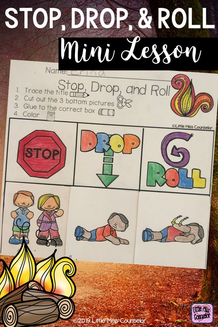 Stop, Drop, and Roll Fire Safety Mini Lesson for Early