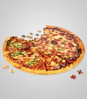 pizza puzzle - this seems like something those anorexic models will put together and munch on