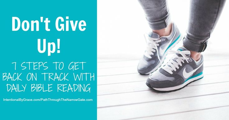 Have you set goals for daily Bible reading this year, but find yourself discouraged a couple of months in? Don't Give Up! You can get back on track!